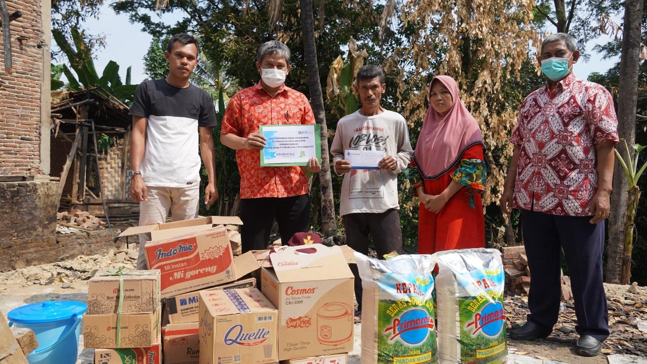 PT KTI dan Baitul Maal PT KTI Berikan Donasi Bantuan Rumah Korban Kebakaran