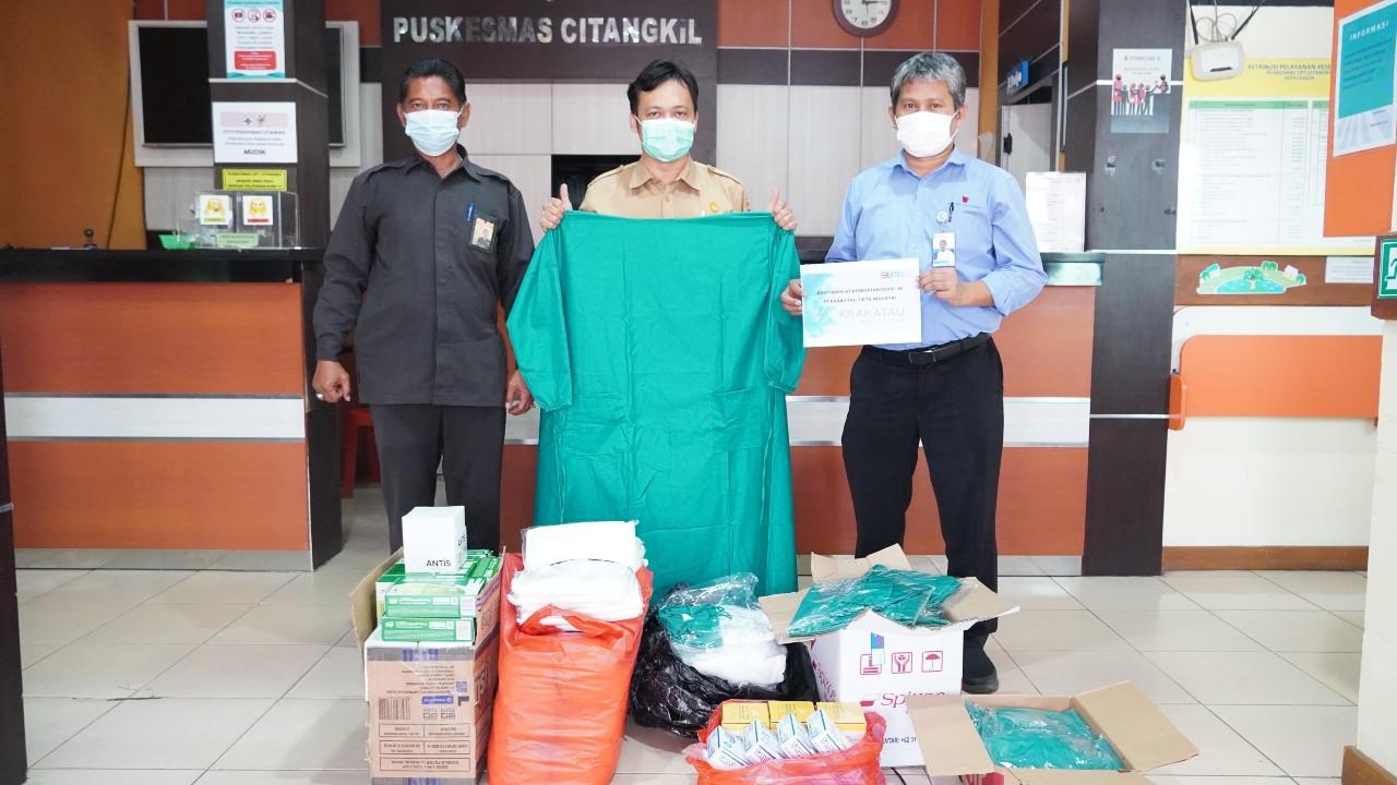 Bantuan Alkes PT KTI kepada Puskesmas Citangkil